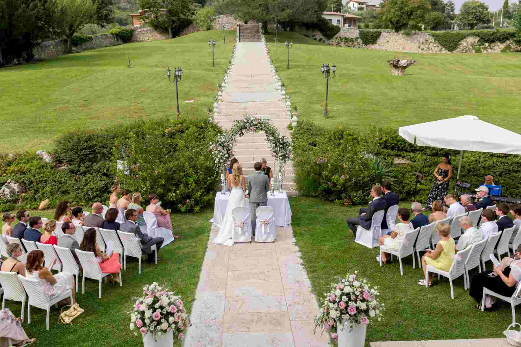 Romantic Wedding Ceremony in the Park  Wedding Package