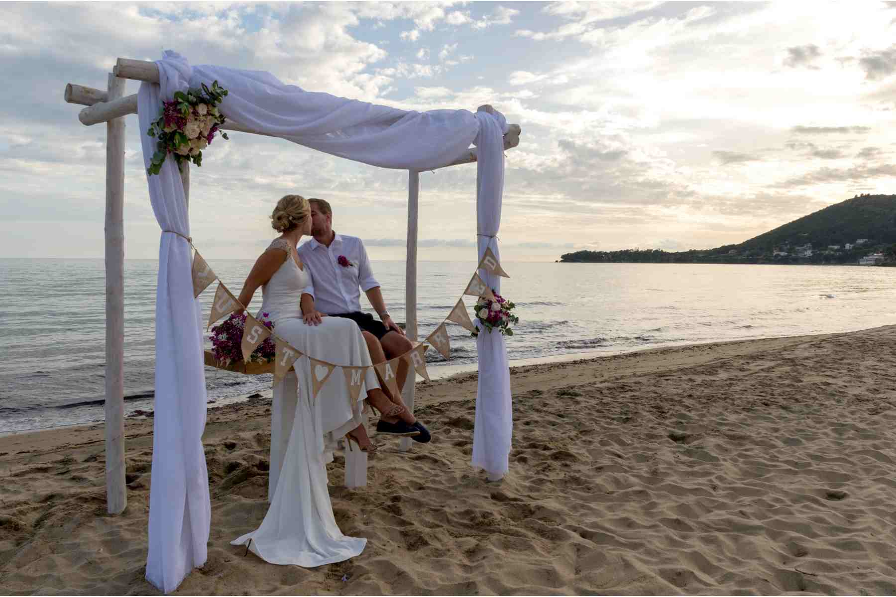 Romantic Civil or Symbolic Beach Wedding