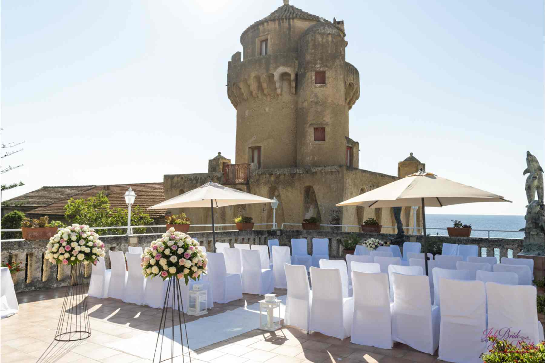 Dreamy Seaside Tower Civil or Symbolic Wedding Ceremony